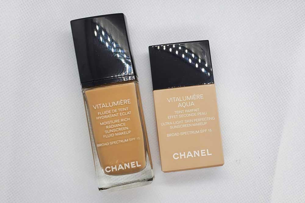 Chanel Vitalumiere  vs. Vitalumiere Aqua