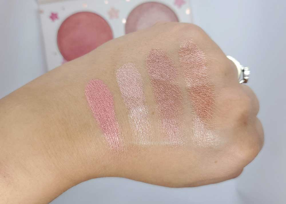 Cotton Candy Champagne Swatches