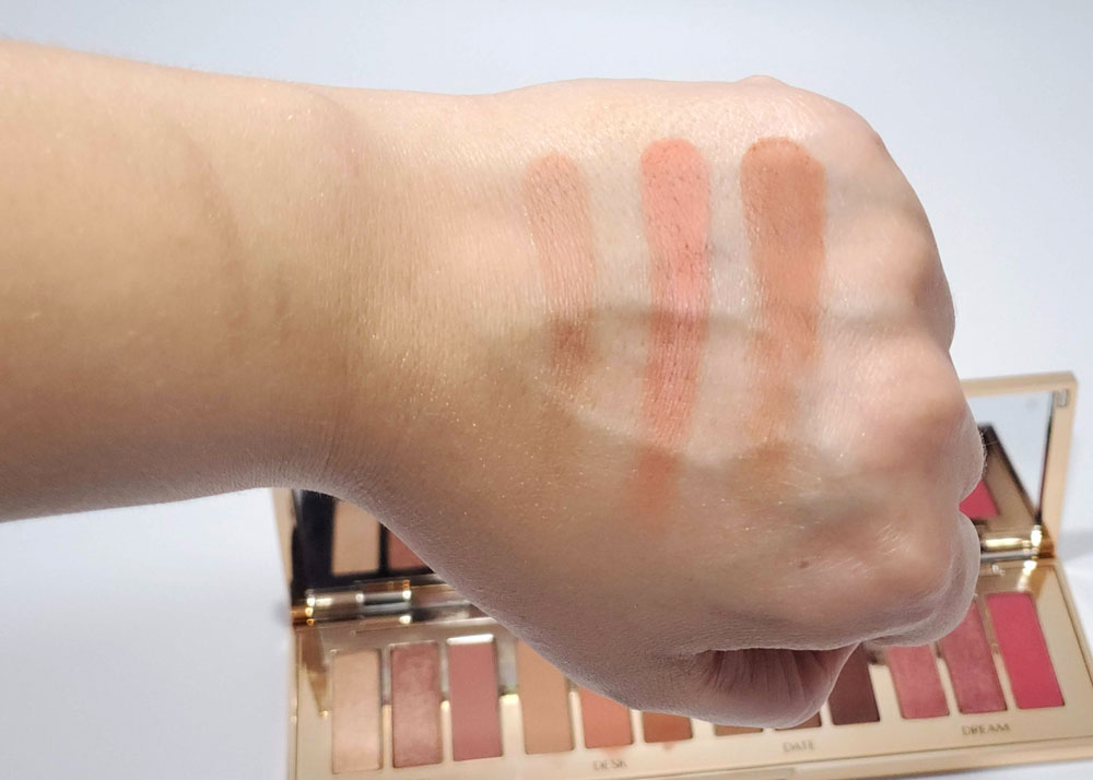 Charlotte Tilbury Pillow Talk Swatches Desk