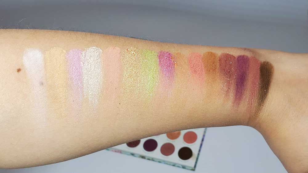 Colourpop Garden Variety Palette Swatches