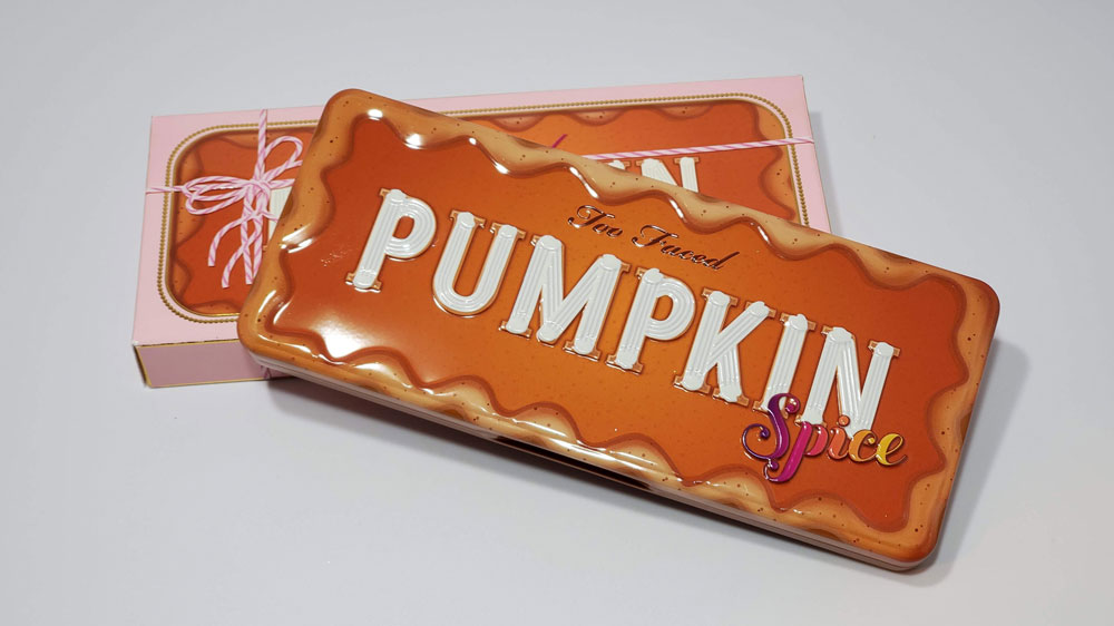 Too faced Pumpkin Spice Palette Review