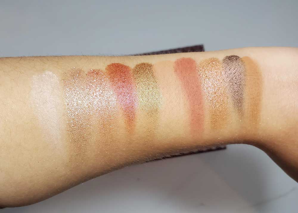 swatches zoeva spice of life