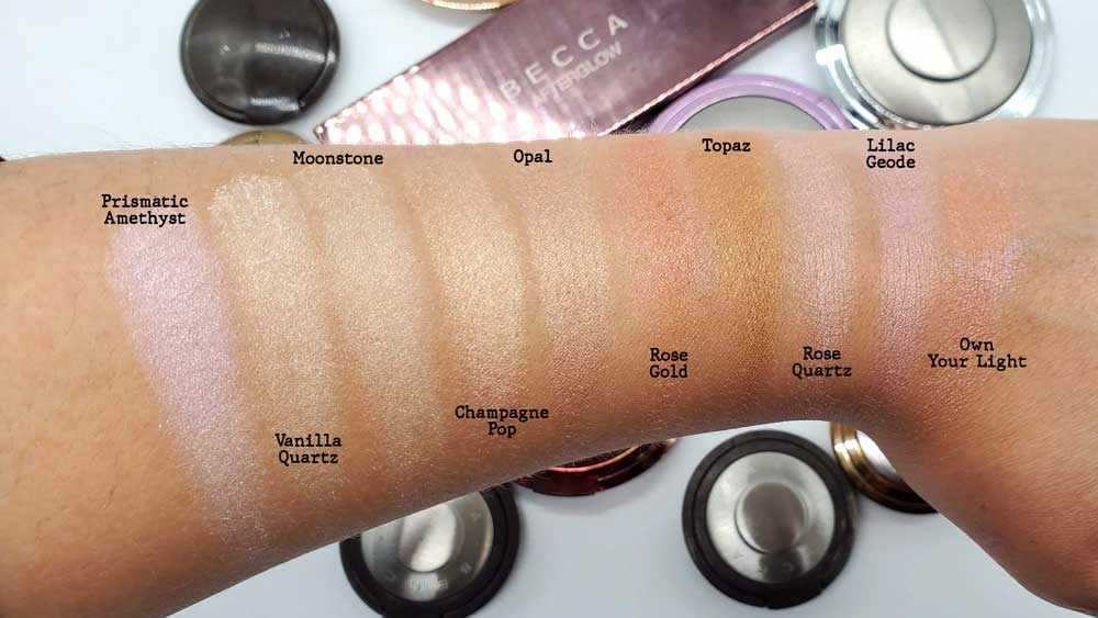 Becca Shimmering Skin Perfector Swatches