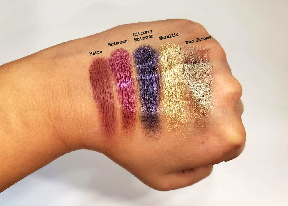 formula swatches