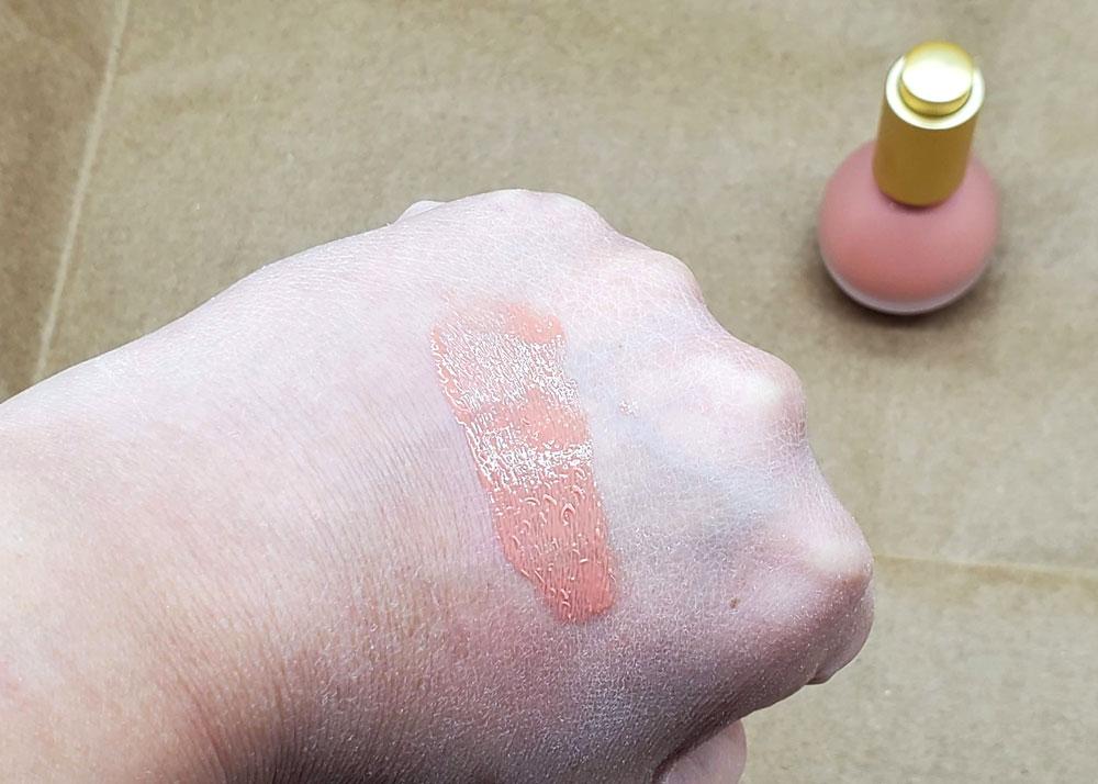 em cosmetics color drops serum blush rose milk swatch