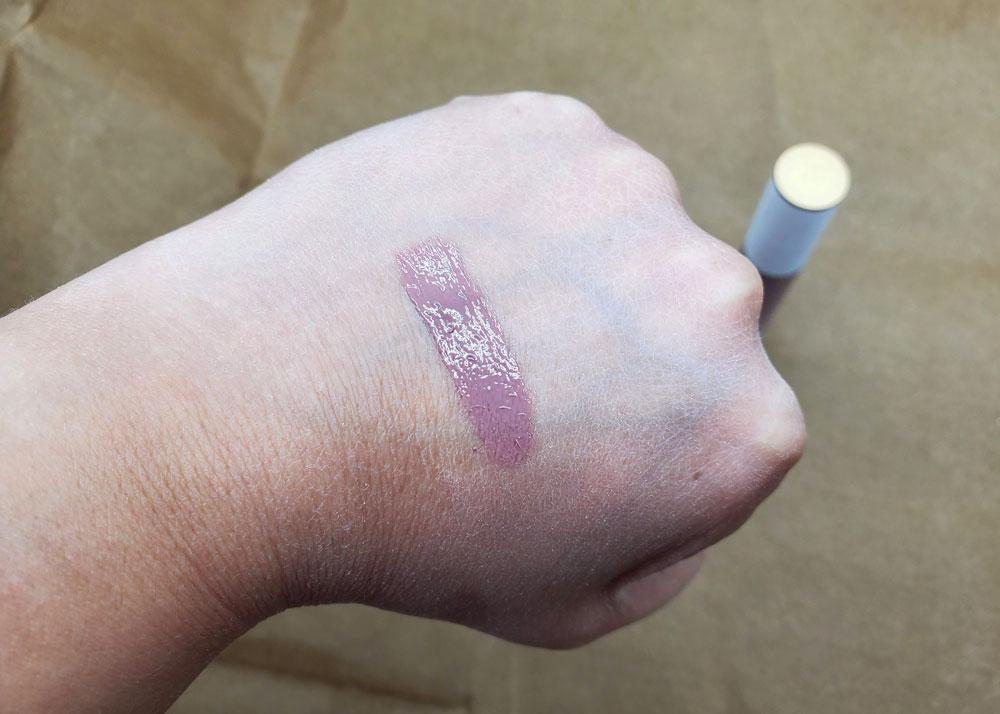 em cosmetics true gloss ash rose swatch