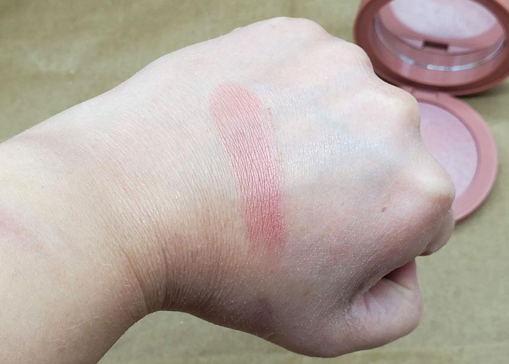 em cosmetics venetian rose heavens glow blush swatch